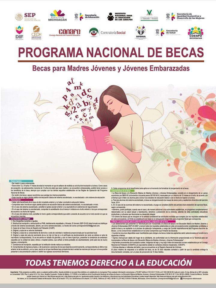 Beca para Madres Jóvenes y Jóvenes Embarazadas